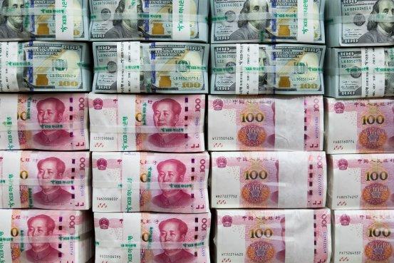 人民币兑美元延续跌势(图)