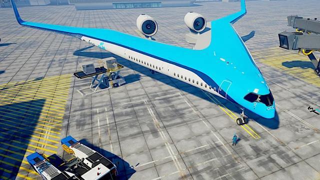 乘客坐在机翼上!荷兰人的新客机是劈叉的
