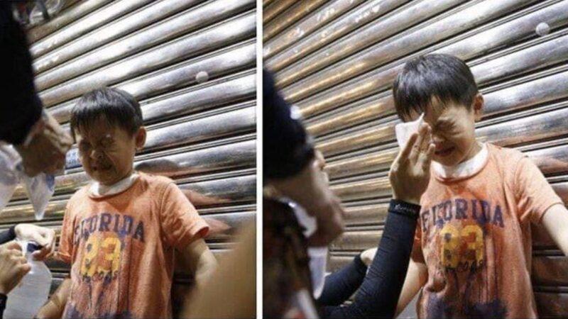 香港幼童迷路問警察 突遭胡椒噴劑噴一臉(圖/視)