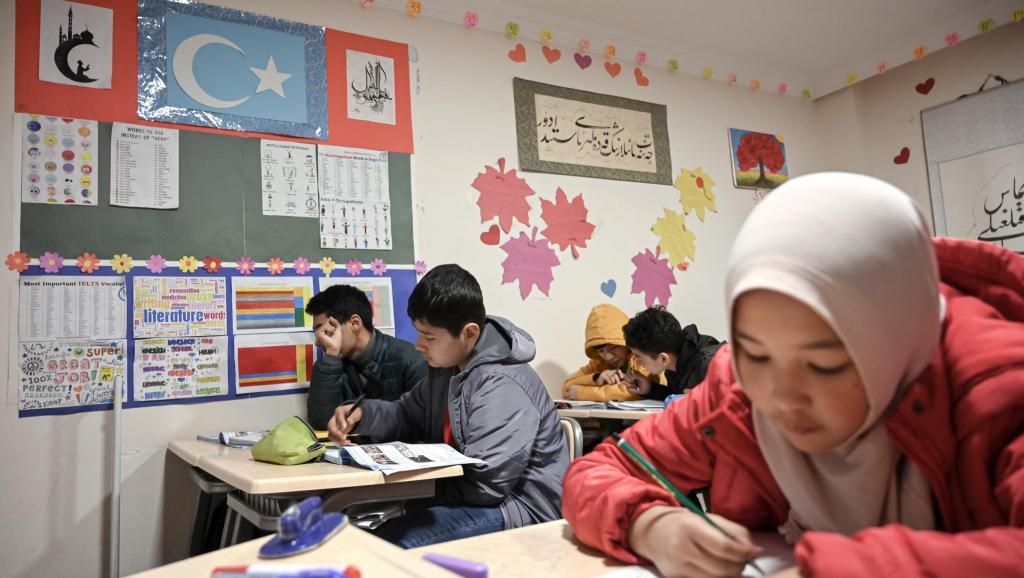 伊斯坦布爾郊區一所維吾爾學校2019年11月29日