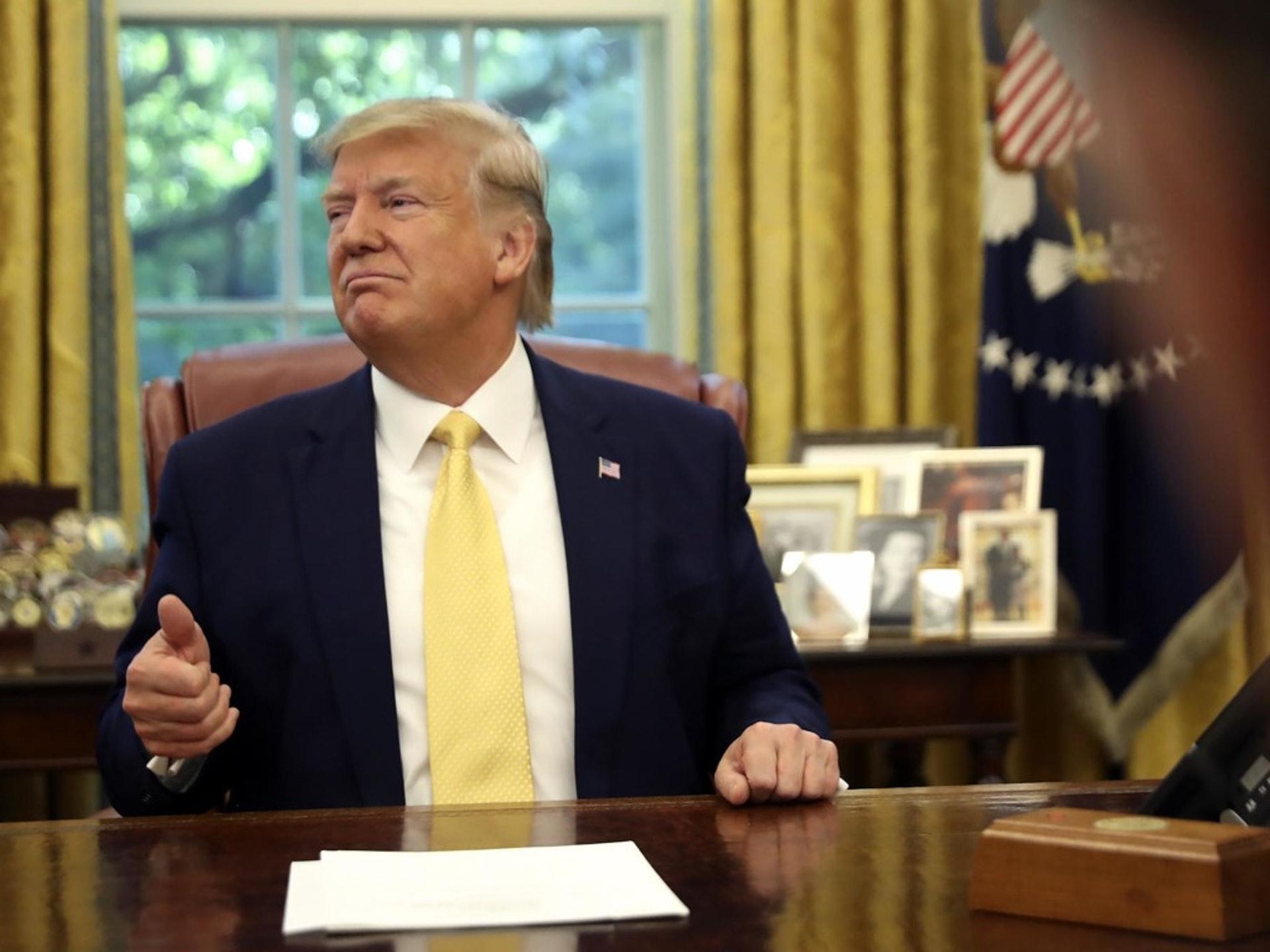 美國總統特朗普2019年12月31日的時候就高調宣布,他將和中國高級代表簽署協議。分析認為,特朗普這麼做是想要邀功。(AP)