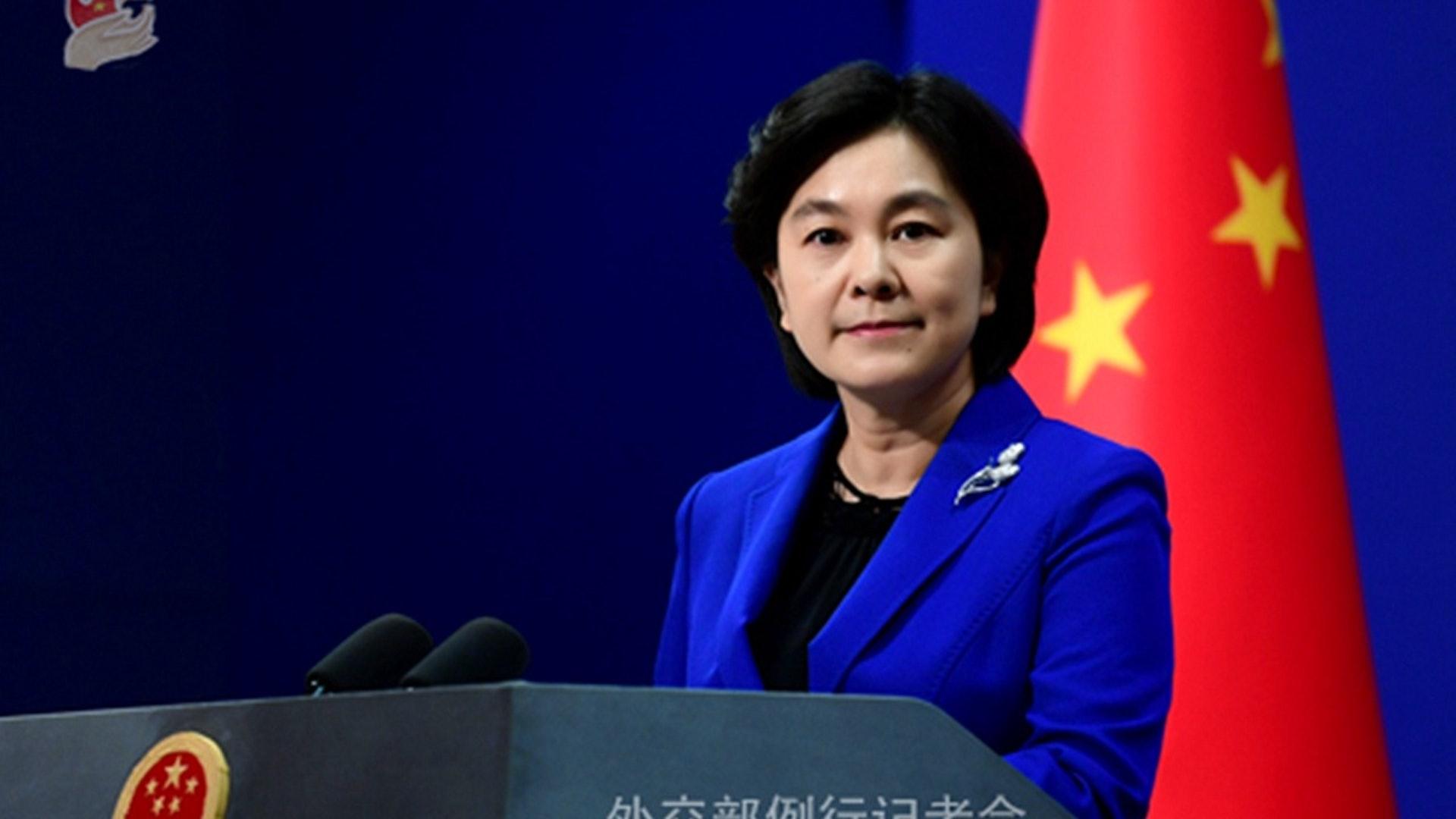 2019年8月2日,中國外交部發言人華春瑩主持例行記者會。(中國外交部)