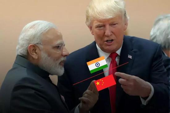 白痴特朗普劝莫迪:印度不必担心中国 你们又不挨着