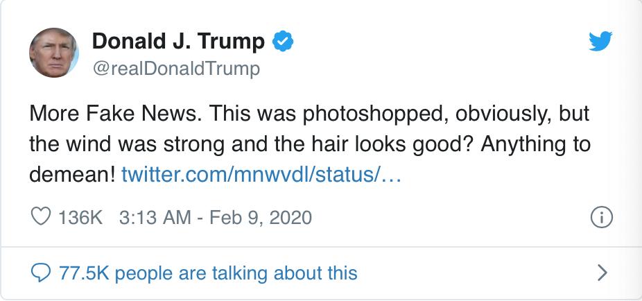 这是什么病:川普橘脸外围一圈白的照片疯传(图)