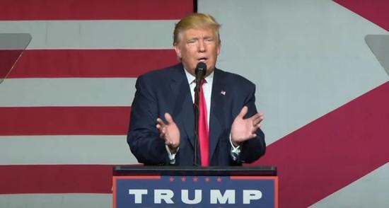 2016年10月14日,川普回应性骚扰事件。