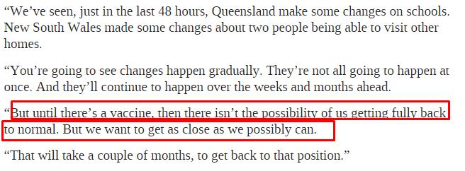澳洲不會恢複正常!莫裏森正式回應:除非有了這個