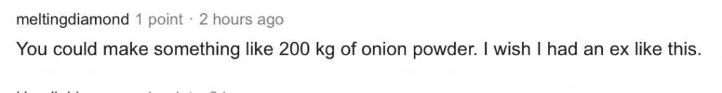 送前男友一噸洋蔥的新聞火到美國 美國人瘋了