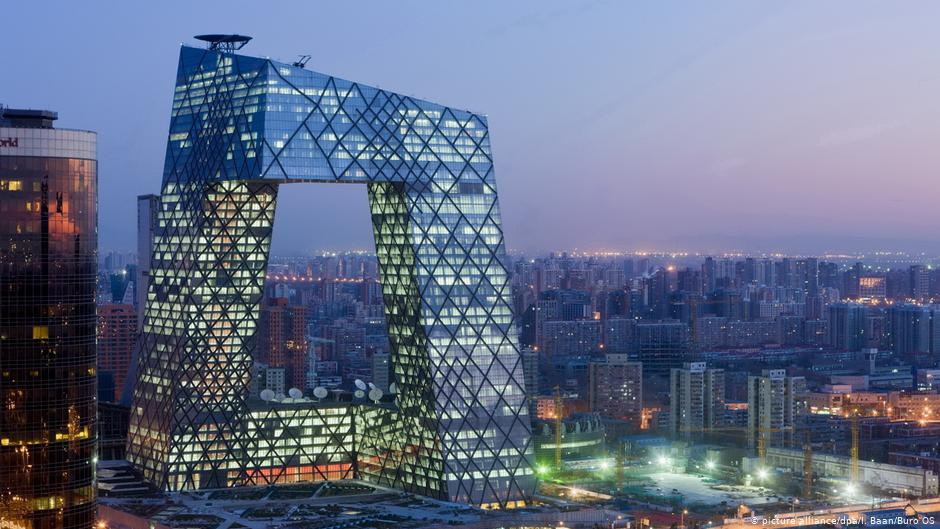 China Sendezentrum des chinesischen Staatsfernsehens (CCTV) in Peking