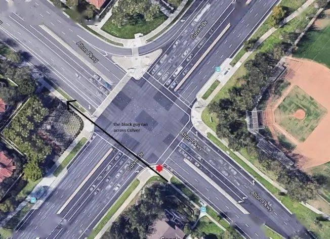 美國南加爾灣華男過街,遭非裔無故襲擊