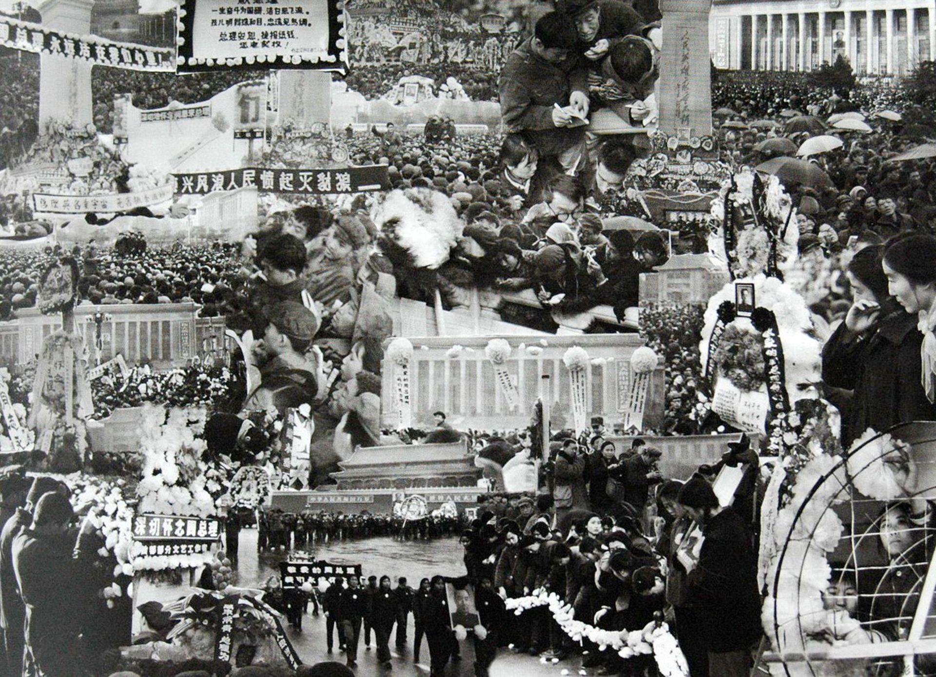 1976年4月5日,北京天安门广场爆发四五运动。(VCG)