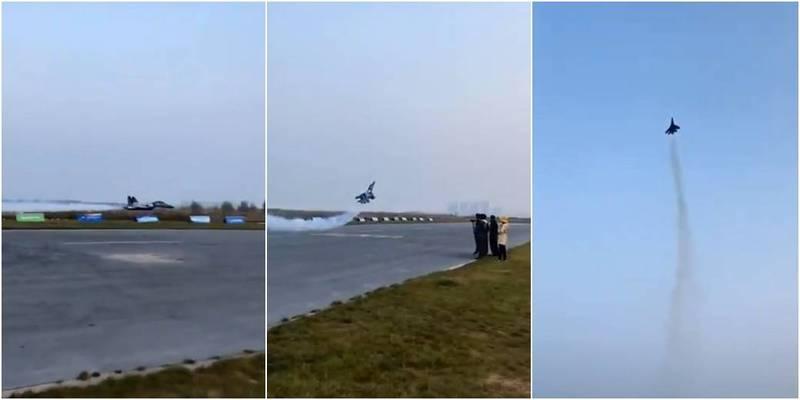 解放军军机秀90度高难度爬升 视频穿帮 是遥控飞机?