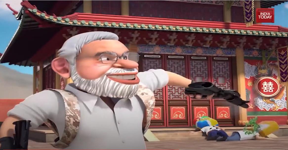 """莫迪化身""""小马哥"""" 持枪扫射中国APP…印度民族主义爆棚了"""