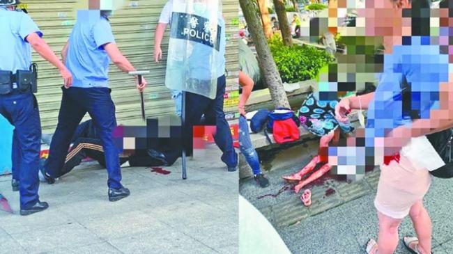 幼儿园外持刀砍死两个孩子 广州记者自杀身亡