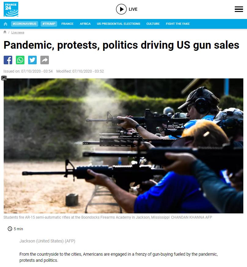 """""""为何都在买枪?每个人都感到害怕"""" 美购枪狂潮高烧不退"""