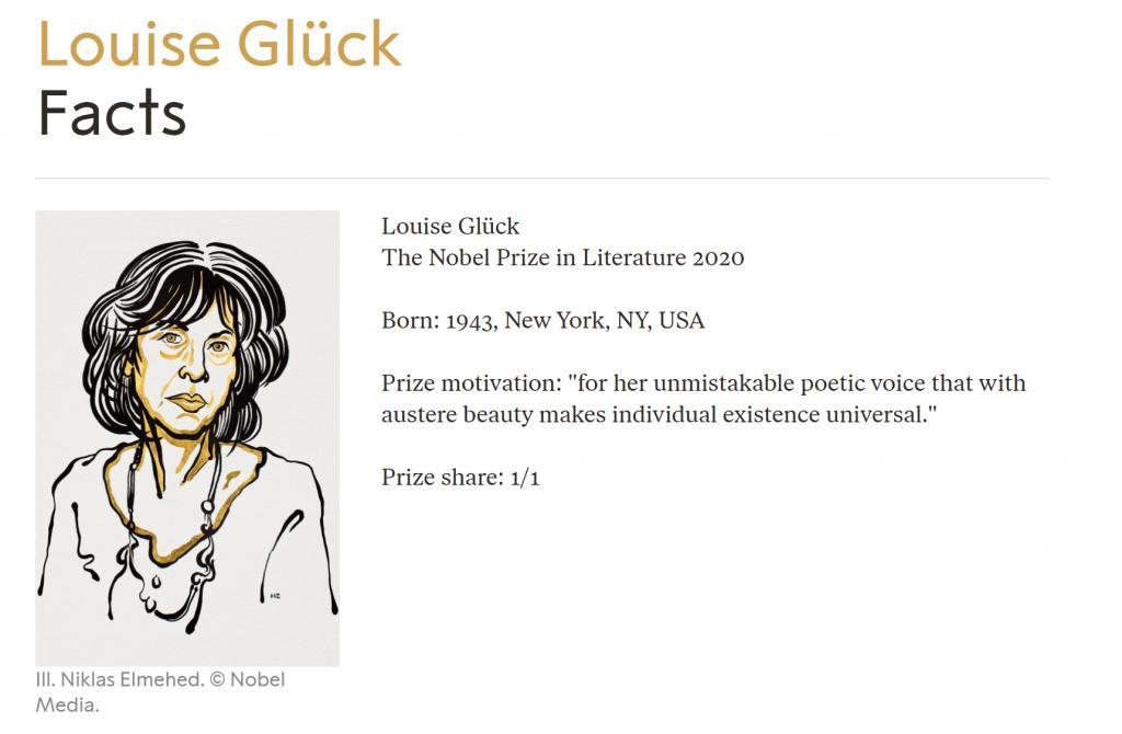 来读下2020年诺贝尔文学奖得主写的诗…