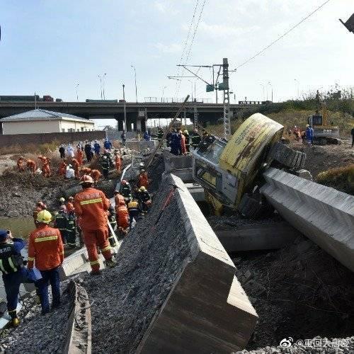天津跨河铁路桥突然坍塌 大量工人遭压 多人死伤