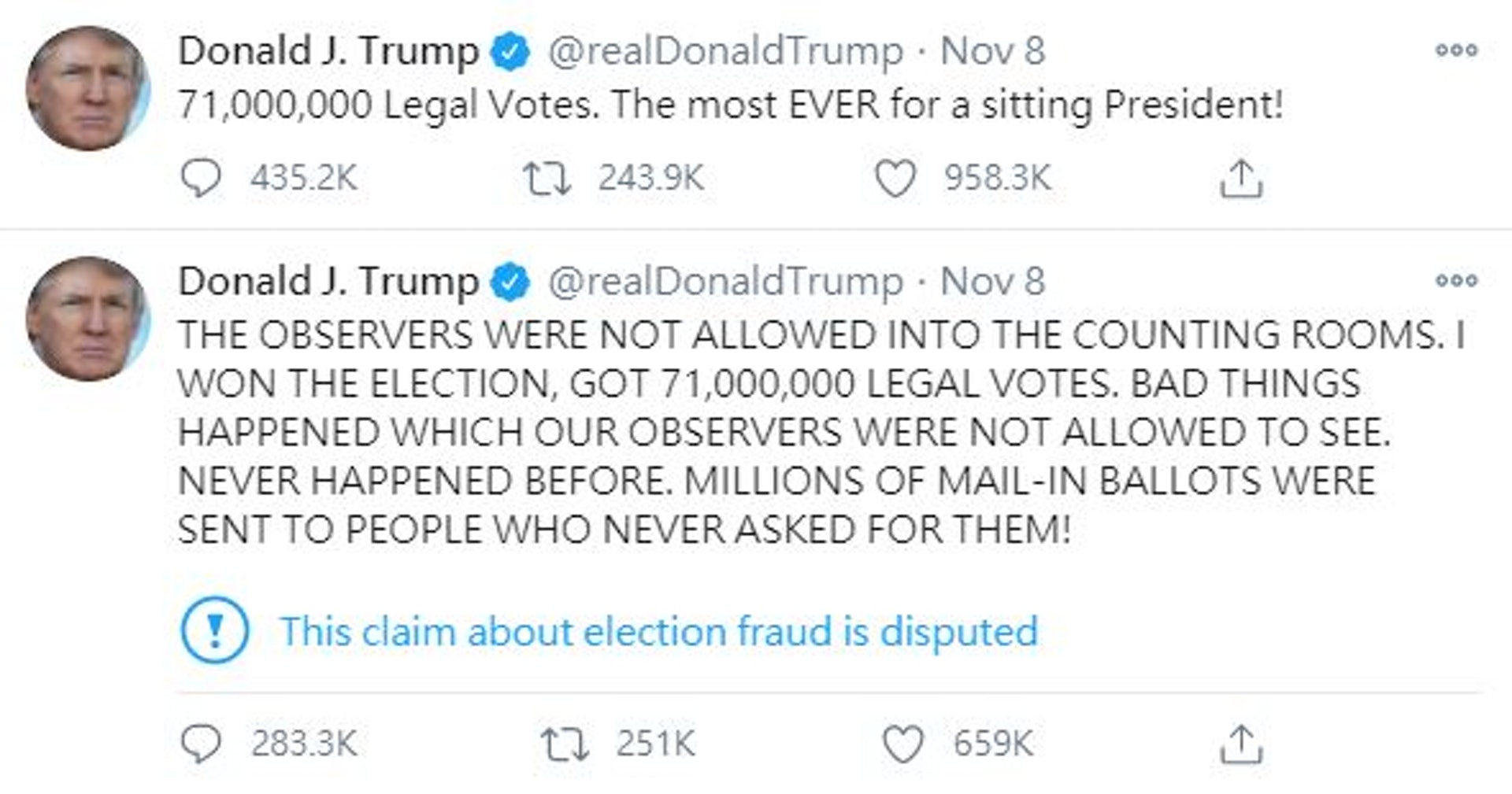特朗普推特将被禁?失去总统光环恐怕不能再乱说话