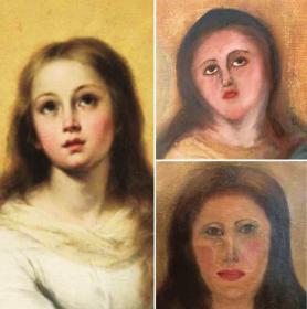 """西班牙百年少女雕像遭""""毁容式修复"""" 网友:这不特朗普吗?"""