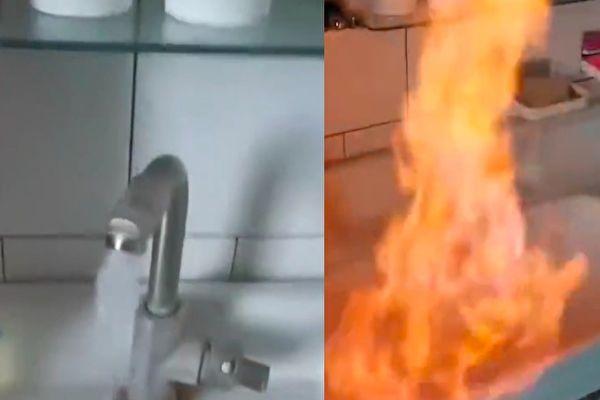 辽宁一村民家中自来水可被点燃 原因不明