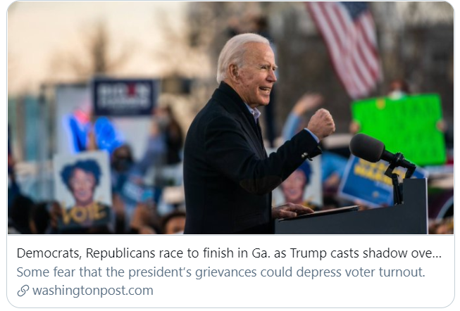 这场全美瞩目的佐治亚决选 川普拜登都输不起