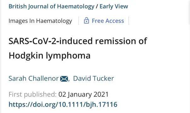 神奇!癌症晚期患者感染新冠后 肿瘤竟消失了