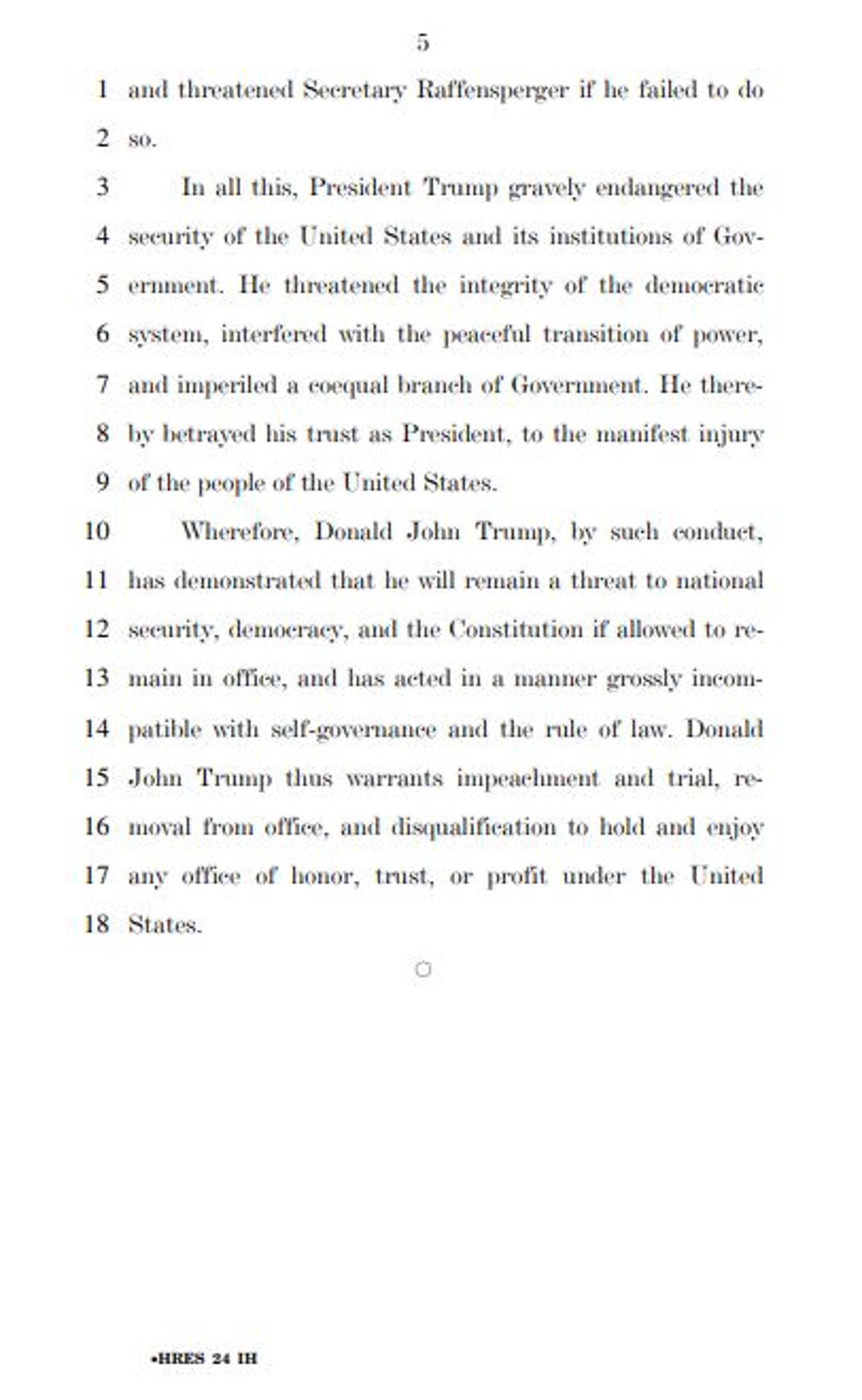 弹劾议案全文 美国式民主如何踢走总统?