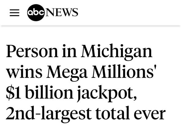 幸运彩民中得10亿美元大奖 网友们是是什么反应?