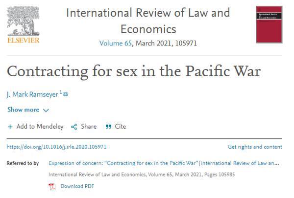 """哈佛大学教授称""""慰安妇是自愿卖淫"""",惹怒韩裔学生"""