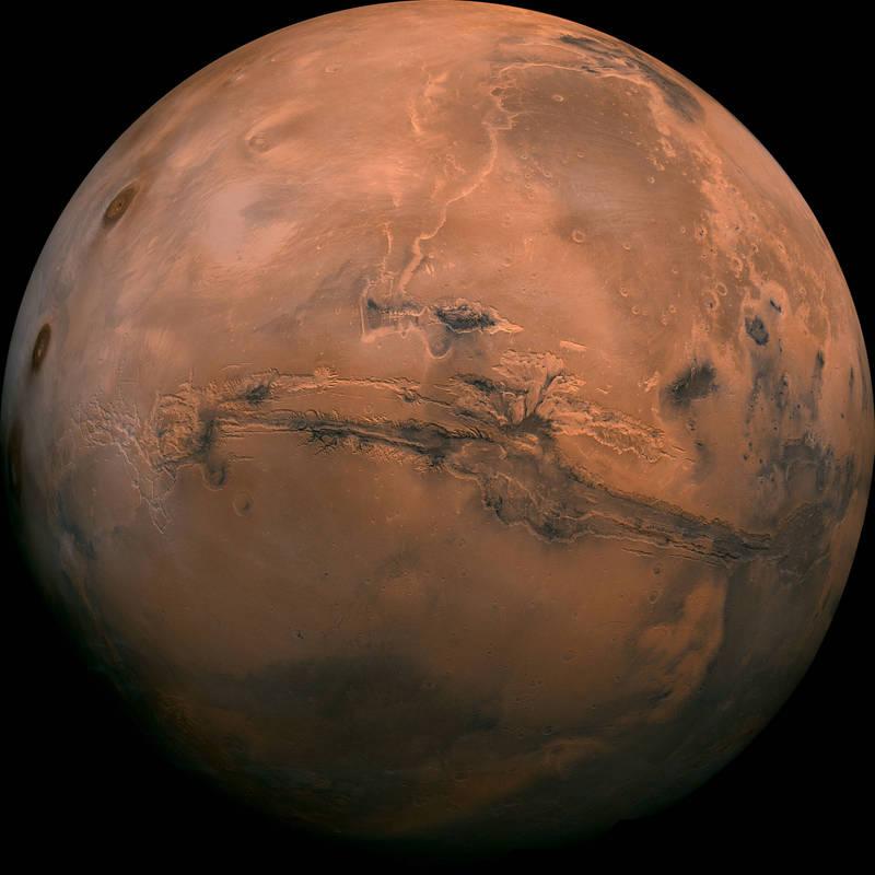 解密文件:美CIA或观察到火星上的古代濒死巨人