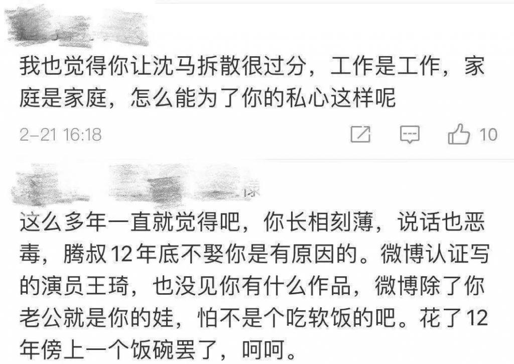 """沈騰妻子被""""圍攻"""",粉絲是不是管太多了?"""