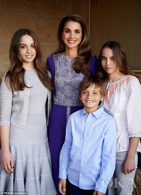 約旦王室:王後王子公主才貌雙全 一家基因太好了