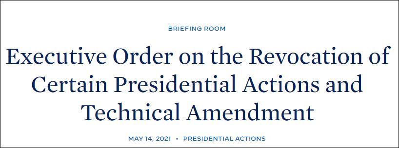 白宫:拜登宣布撤销一系列特朗普签署的行政令