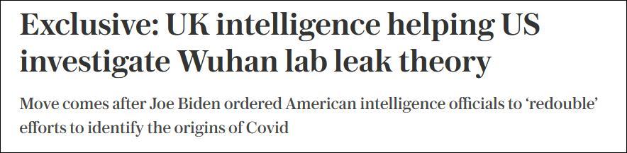 """""""我不相信病毒来自实验室,但持开放态度"""""""