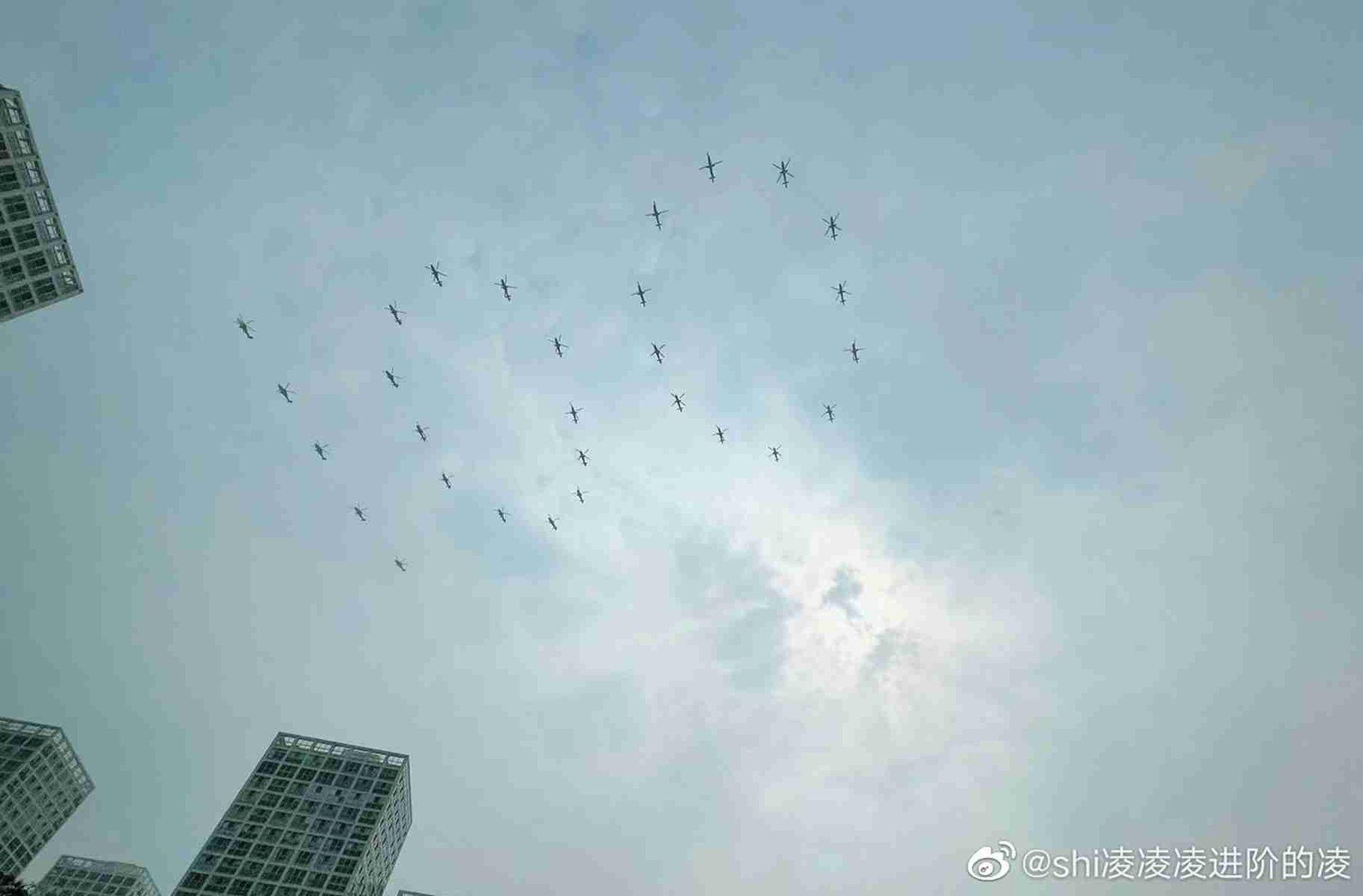 中共百年党庆彩排 规模堪比大阅兵