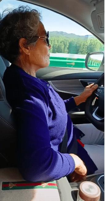 飞奔在路上 69岁奶奶自驾千里走红 网友:马路杀手