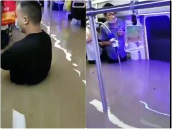 """水灌地铁!他背""""晕倒""""乘客逃命 走了一会发现已去世"""