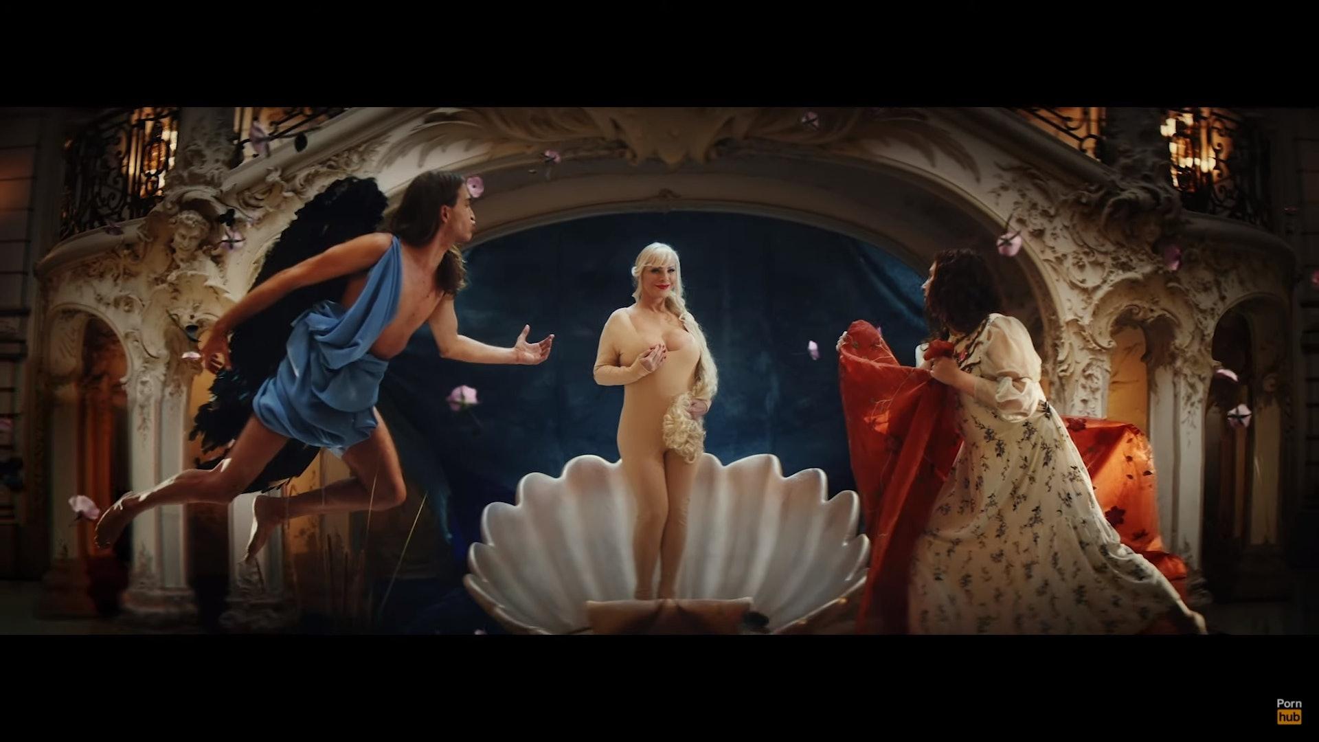 Pornhub找AV女优扮名画著名场面 被乌菲兹美术馆控告