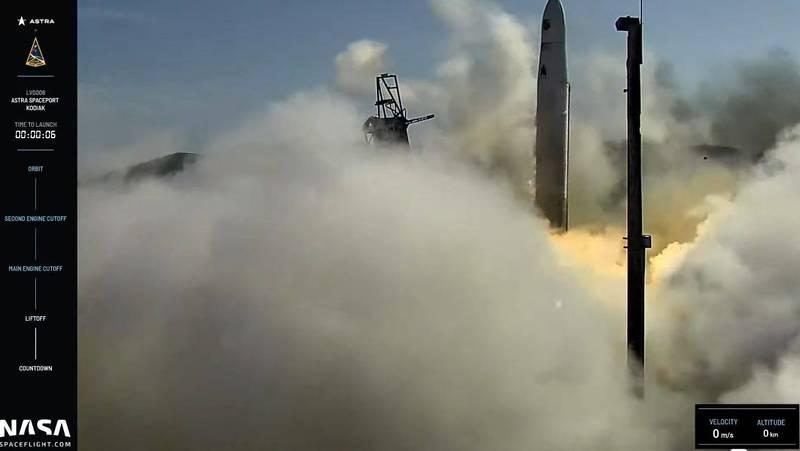 美国民间火箭公司 Astra 「第六号火箭(LV 0006)」试射失败
