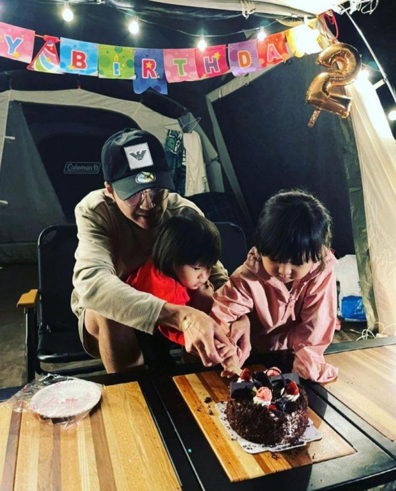 江宏傑曬與兒女慶生露營照 一家人獨缺福原愛
