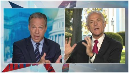 """CNN主播批特朗普""""不诚实"""",纳瓦罗当场跟他吵架"""
