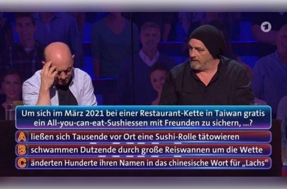 """台湾""""鲑鱼之乱""""竟登德国益智节目…参赛者傻眼了"""